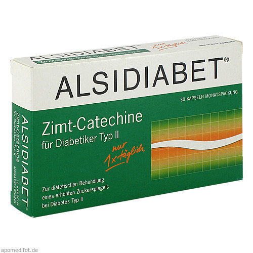 ALSIDIABET Zimt-Catechine f.Diab.TypII 1xtaegl., 30 ST, Alsitan GmbH