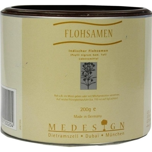 Flohsamen, 200 G, Medesign I. C. GmbH
