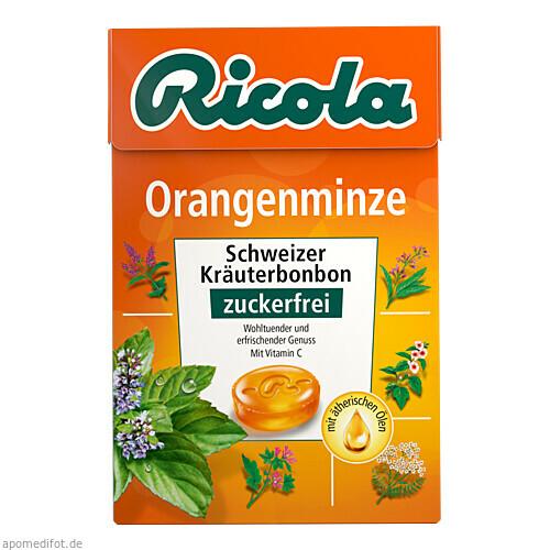 Ricola OZ Box Orangenminze, 50 G, Queisser Pharma GmbH & Co. KG