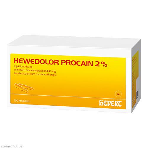 HEWEDOLOR PROCAIN 2%, 100 ST, Hevert Arzneimittel GmbH & Co. KG