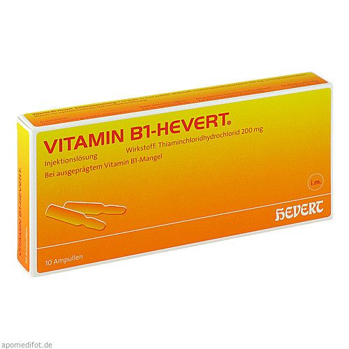 VITAMIN B1 HEVERT, 10 ST, Hevert Arzneimittel GmbH & Co. KG