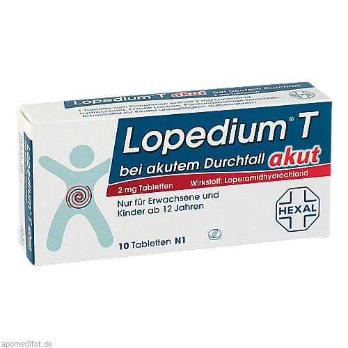 Lopedium T akut bei akutem Durchfall, 10 ST, HEXAL AG