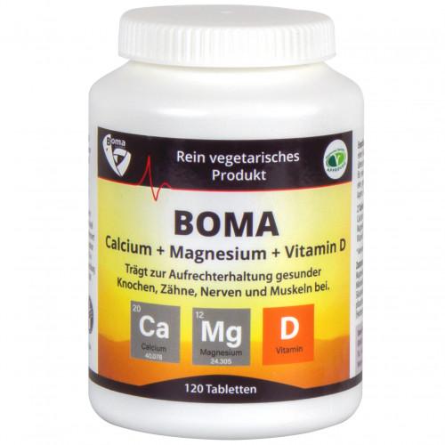 Calcium + Magnesium + Vitamin D, 120 ST, Boma Lecithin GmbH