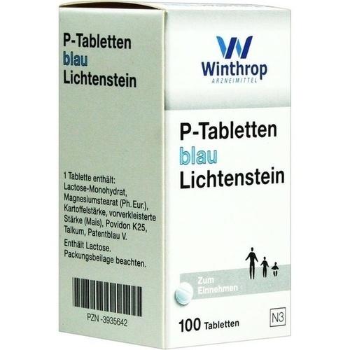 P TABLETTEN BLAU 8MM TEILK, 100 ST, Zentiva Pharma GmbH