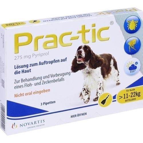 PRAC tic f.mittlere Hunde 11-22 kg Einzeldosispip., 3 ST, Elanco Deutschland GmbH
