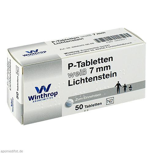 P TABLETTEN WEISS 7MM TEIL, 50 ST, Zentiva Pharma GmbH