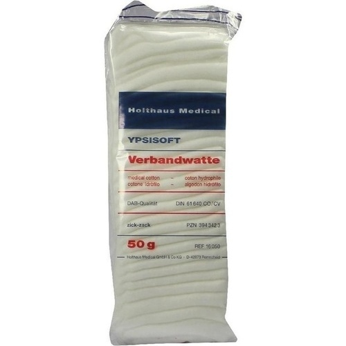VERBANDWATTE HOLTHAUS DIN, 50 G, Holthaus Medical GmbH & Co. KG