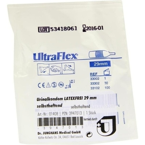 Urinalkondom latexfrei 29mm selbsthaftend, 1 ST, Dr. Junghans Medical GmbH