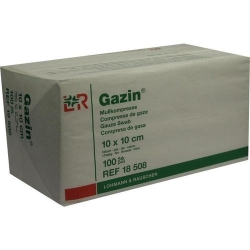 GAZIN Kompresse 10x10cm 12fach OP, 100 ST, Lohmann & Rauscher GmbH & Co. KG
