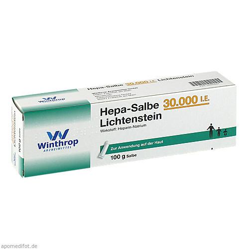 Hepa-Salbe 30000 I.E. Lichtenstein, 100 G, Zentiva Pharma GmbH