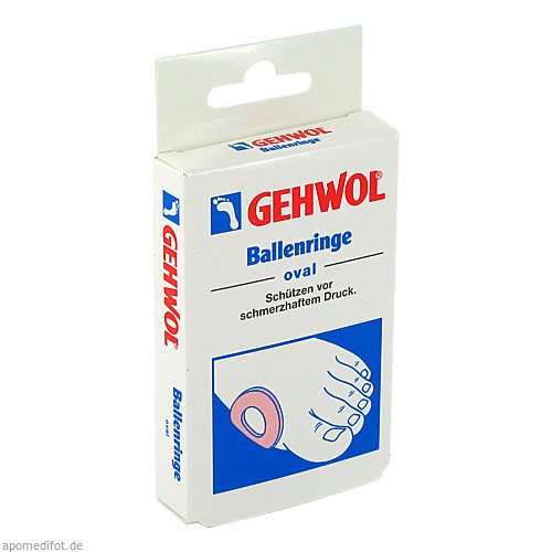 GEHWOL BALLENRINGE OVAL, 6 ST, Eduard Gerlach GmbH
