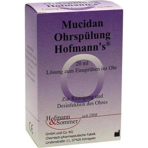 Mucidan Ohrspüllösung Hofmanns, 20 ML, Hofmann & Sommer GmbH & Co. KG