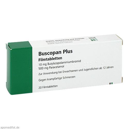 Buscopan plus, 20 ST, Eurimpharm Arzneimittel GmbH