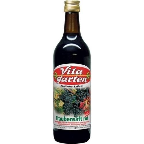Vitagarten Roter Traubensaft + Eisen Einwegflasche, 200 ML, Obstsaftkelterei