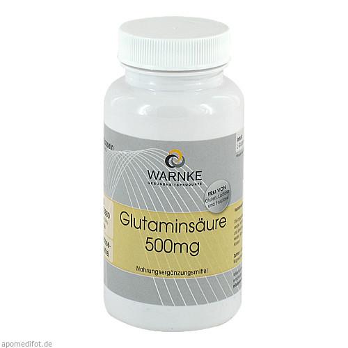 Glutaminsäure 500mg, 100 ST, Warnke Vitalstoffe GmbH