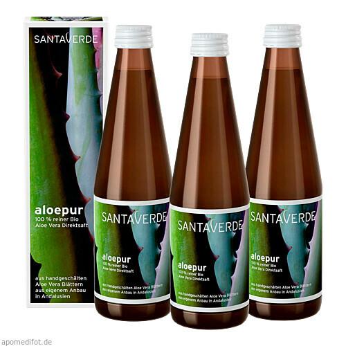 Aloe Vera Saft 100% reiner KbA Sparpack, 3X330 ML, SANTAVERDE GmbH