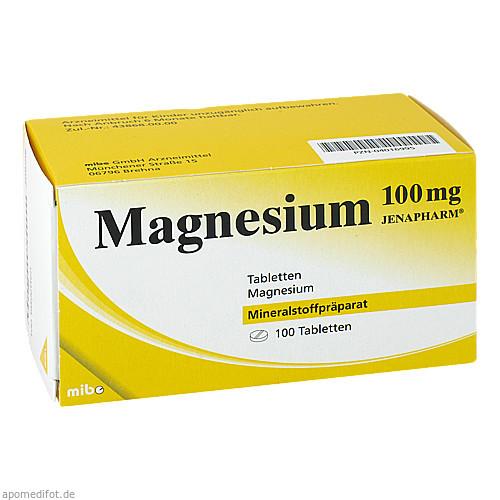 MAGNESIUM 100 mg Jenapharm Tabletten, 100 ST, MIBE GmbH Arzneimittel
