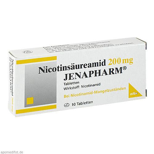 NICOTINSAEUREAMID 200MG JENAPHARM, 10 ST, Mibe GmbH Arzneimittel