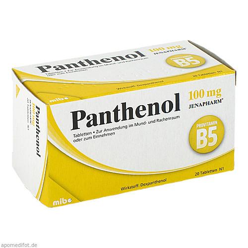 PANTHENOL 100MG Jenapharm, 20 ST, Mibe GmbH Arzneimittel