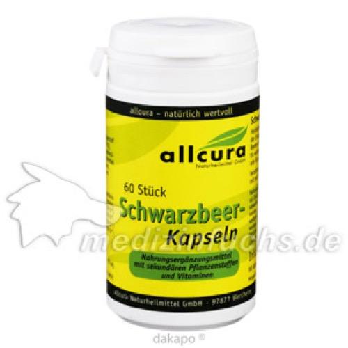 Schwarzbeer-Kapseln, 60 ST, Allcura Naturheilmittel GmbH