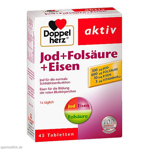 Doppelherz Jod+Folsäure+Eisen, 45 ST, Queisser Pharma GmbH & Co. KG