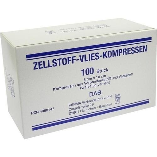 ZELLSTOFF VLIES-KOMPRESSEN 8X10 UNSTERIL, 100 ST, Kerma Verbandstoff GmbH