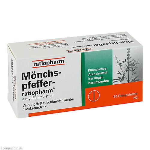 Mönchspfeffer-ratiopharm, 60 ST, ratiopharm GmbH