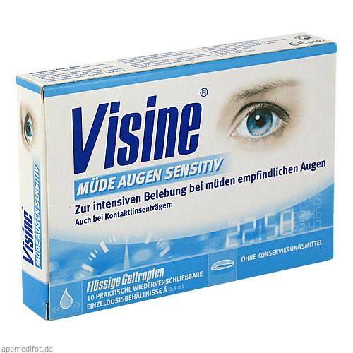 VISINE müde Augen Sensitive Einzeldosispipetten, 10X0.5 ML, Johnson&Johnson GmbH-CHC