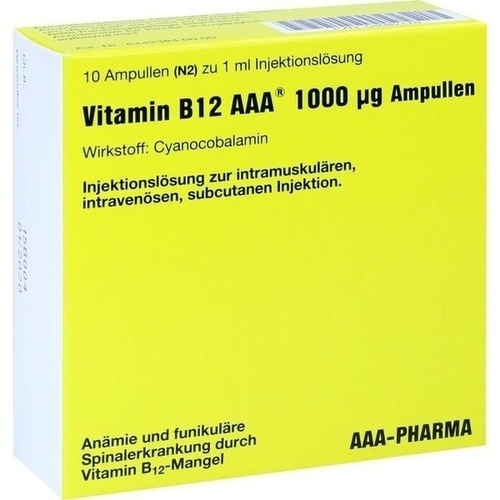 Vitamin B12 AAA 1000ug, 10X1 ML, Aaa - Pharma GmbH