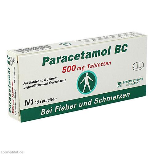 Paracetamol BC 500mg Tabletten, 10 ST, Berlin-Chemie AG