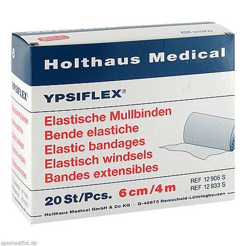 ELAST MULLBINDE 4MX6CM, 20 ST, Holthaus Medical GmbH & Co. KG