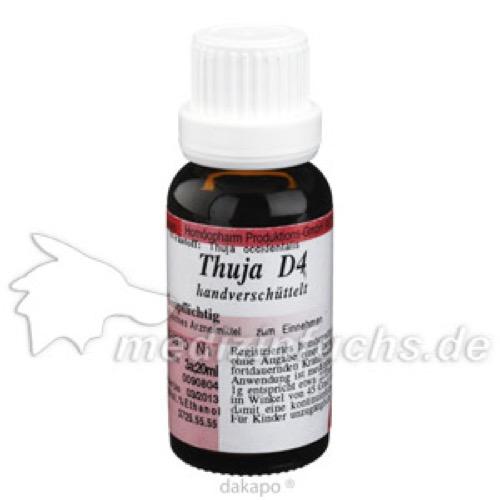 THUJA D 4, 20 ML, Anthroposan Homöopharm Produktionsgesellschaft mbH