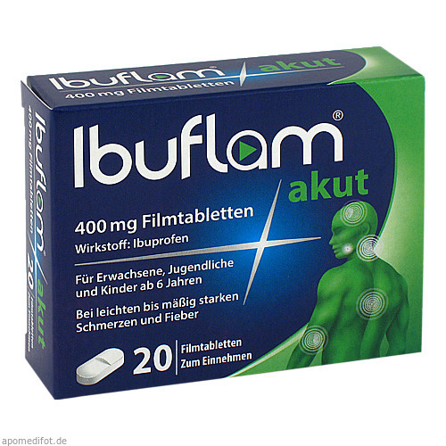 Ibuflam akut 400mg Filmtabletten, 20 ST, Sanofi-Aventis Deutschland GmbH GB Selbstmedikation /Consumer-Care