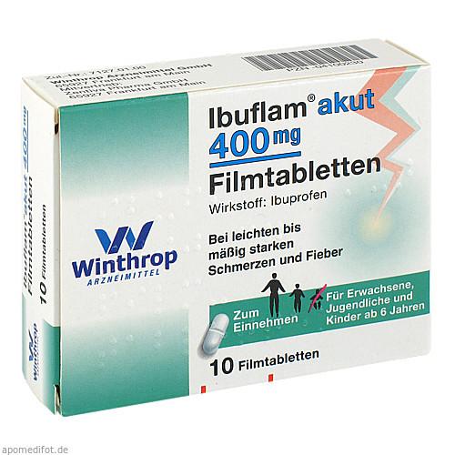 Ibuflam akut 400mg Filmtabletten, 10 ST, Sanofi-Aventis Deutschland GmbH GB Selbstmedikation /Consumer-Care