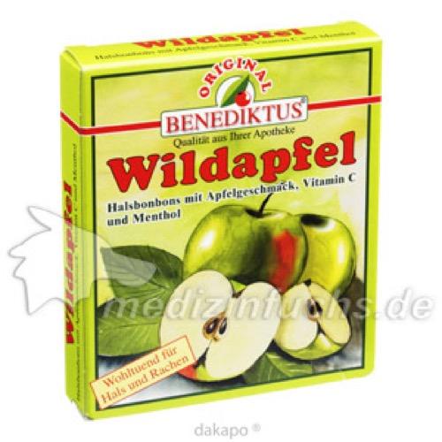 Wildapfel Bonbons mit Menthol und Vitamin C, 50 G, Benediktus Kräuterlabor Strathausen GmbH