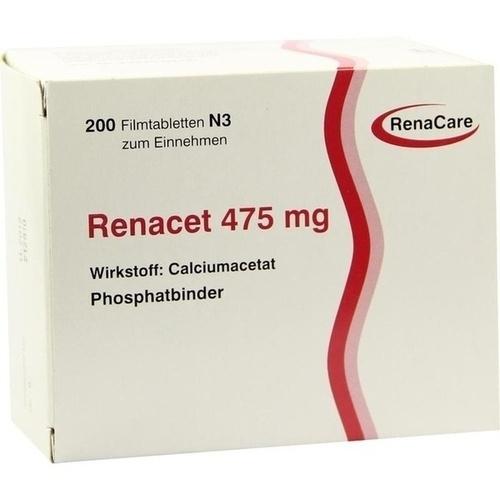 RENACET 475mg, 200 ST, Renacare Nephromed GmbH