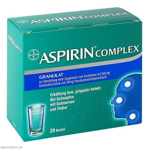 ASPIRIN COMPLEX Beutel, 20 ST, Bayer Vital GmbH