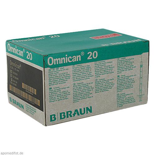 Omnican 20 0.5ml 0.30x8mm 20 I.U., 100 ST, B. Braun Melsungen AG