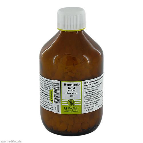 Biochemie Nestmann Nr.4 Kalium chloratum D 6, 1000 ST, Nestmann Pharma GmbH