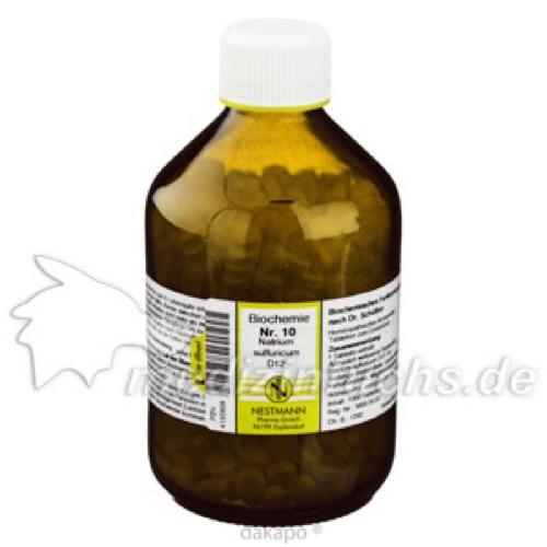 Biochemie Nestmann Nr.10 Natrium sulfuricum D12, 1000 ST, Nestmann Pharma GmbH