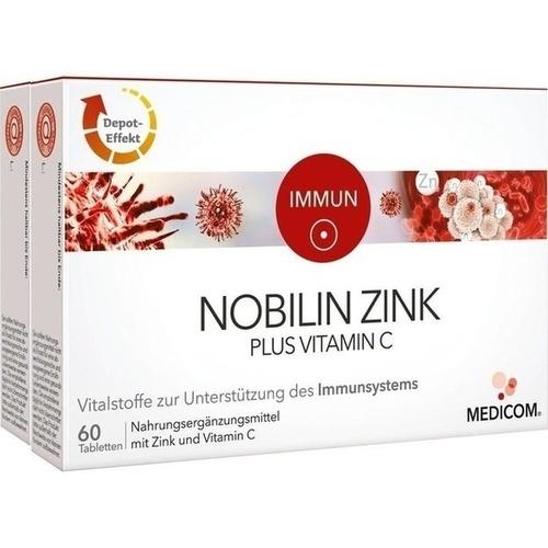 Nobilin Zink Plus Vitamin C, 2X60 ST, Medicom Pharma GmbH