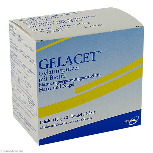 Gelacet Gelatinepulver mit Biotin Btl., 21 ST, Almirall Hermal GmbH