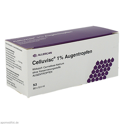 Celluvisc 1% Augentropfen, 90X0.4 ML, Allergan Pharmaceuticals Ireland