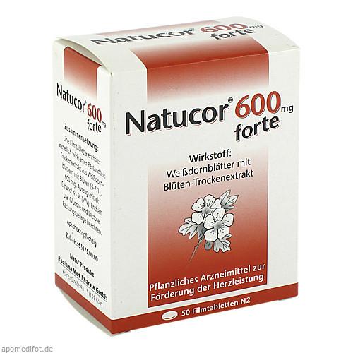 Natucor 600mg forte, 50 ST, Rodisma-Med Pharma GmbH
