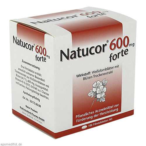 Natucor 600mg forte, 100 ST, Rodisma-Med Pharma GmbH