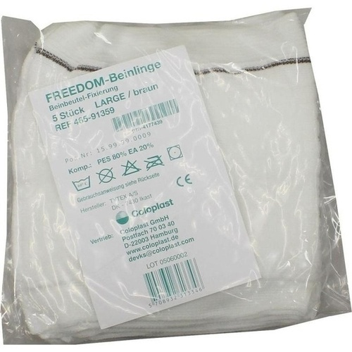 Freedom Beinlinge Large Braun, 5 ST, Coloplast GmbH