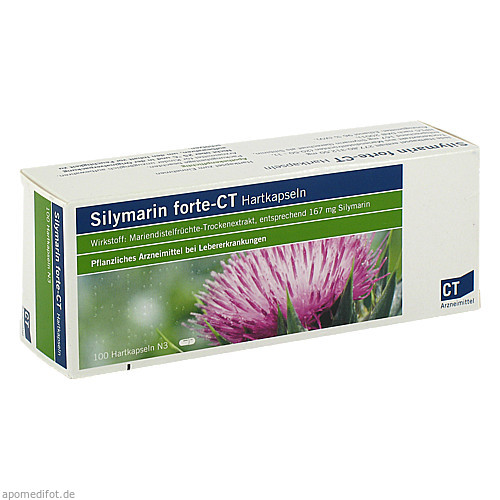 silymarin forte - CT Hartkapseln, 100 ST, ratiopharm GmbH