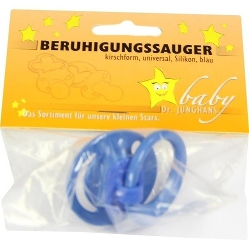 Beruhigungssauger kirschf Sili universal blau, 1 ST, Dr. Junghans Medical GmbH
