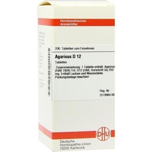 AGARICUS D12, 200 ST, Dhu-Arzneimittel GmbH & Co. KG