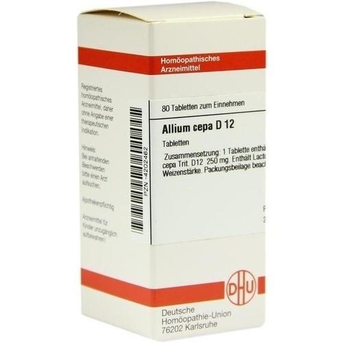 ALLIUM CEPA D12, 80 ST, Dhu-Arzneimittel GmbH & Co. KG